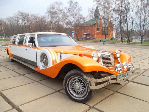 Лимузин Excalibur карамельный аренда Киев цена